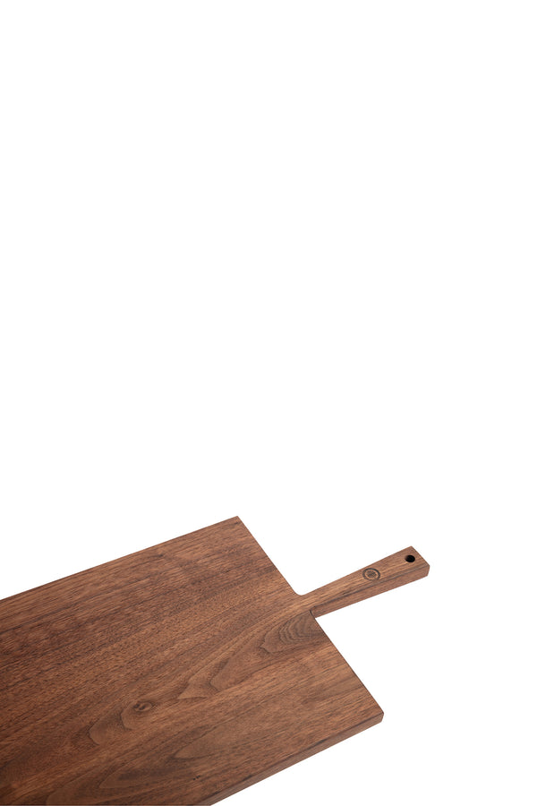 Walnut wooden cutting board with handle