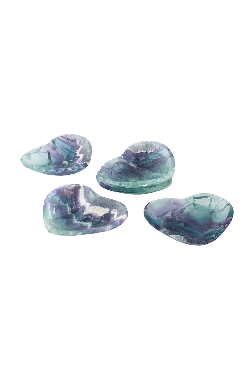 Fluorite Heart Dish by The Cristalline