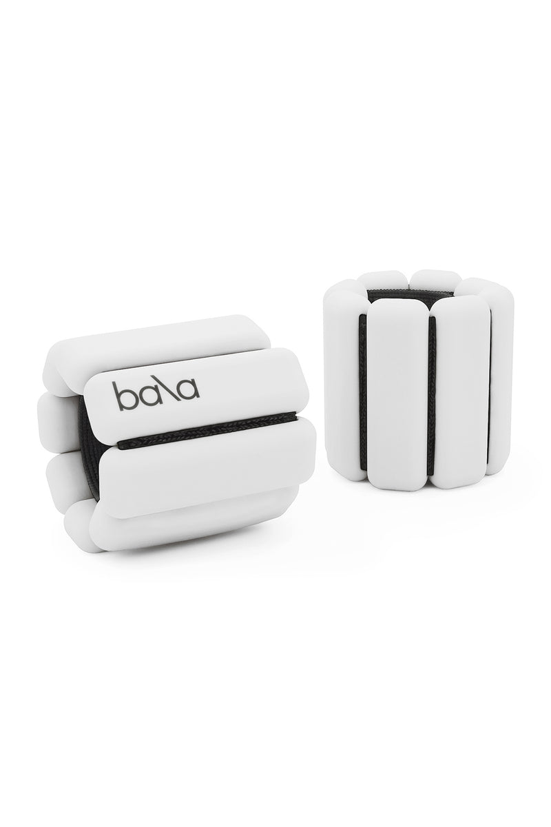 White wearable weights by Bala Bangles