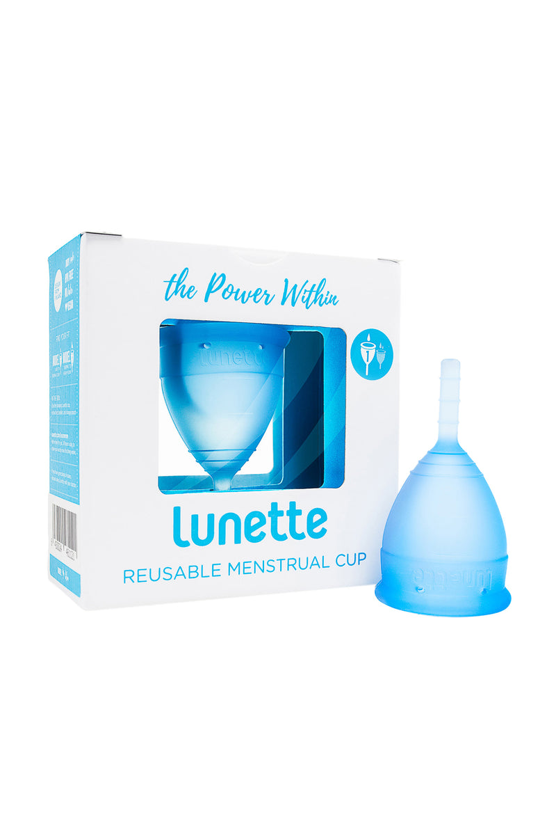 Blue Reusable Menstrual Cup by Lunette