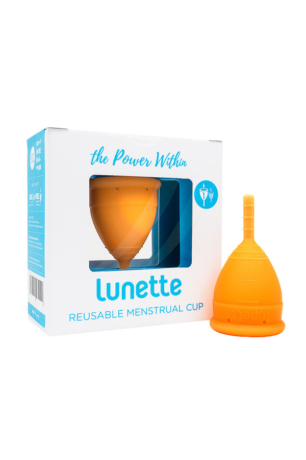 Orange Reusable Menstrual Cup by Lunette