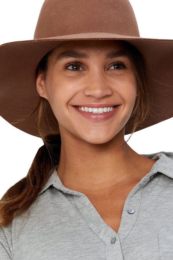 Brown wool floppy hat from Michael Stars