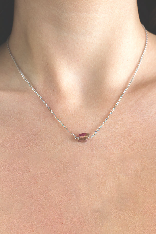 Watermelon Tourmaline Necklace by Kali Zoe Designs