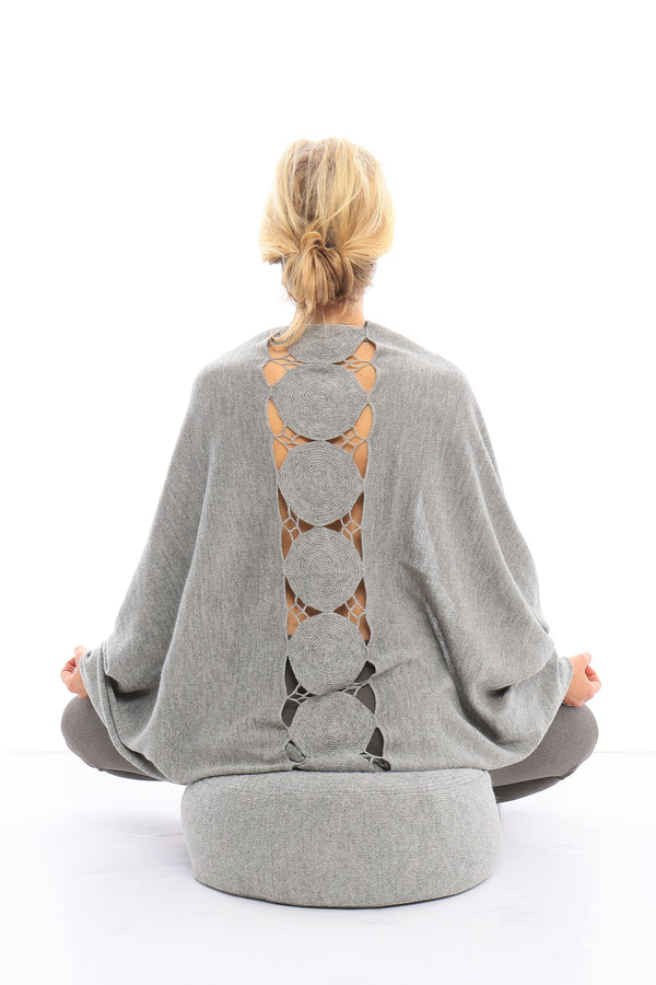 Paya Meditation Cushion in Silver by Sefte