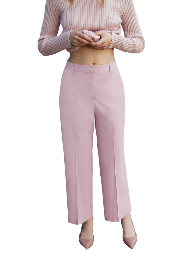 Powder pink wool dress pant from Mansur Gavriel
