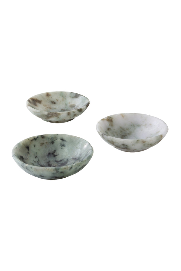 Jade Tiny Bowls by The Cristalline