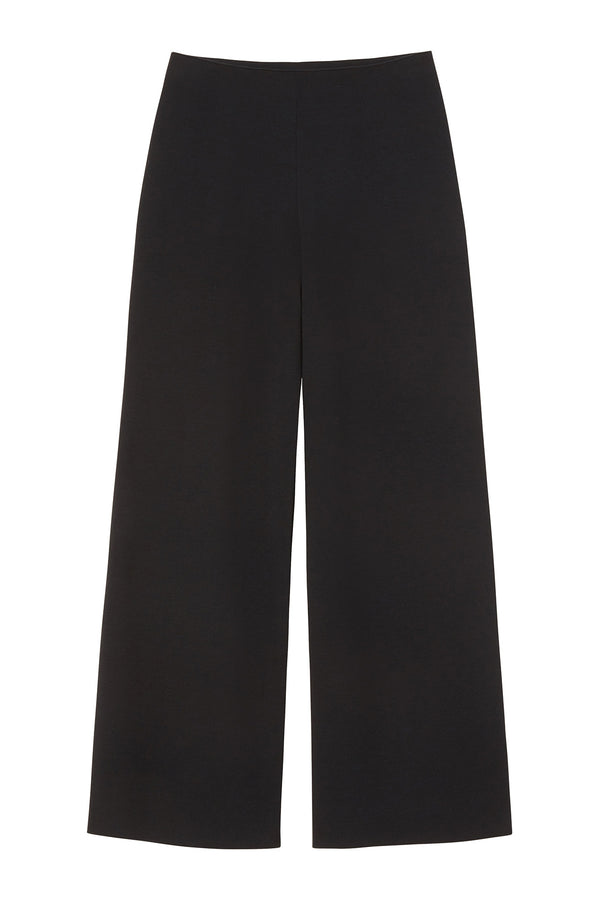 Black Italian wool cropped dress pant from Mansur Gavriel