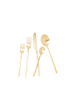 Gold Apsel Matte Flatware Set by Hudson Wilder