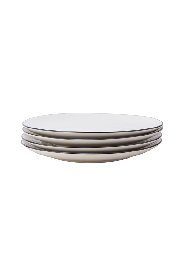 Damek Charcoal Line Large Plates by Hudson Wilder