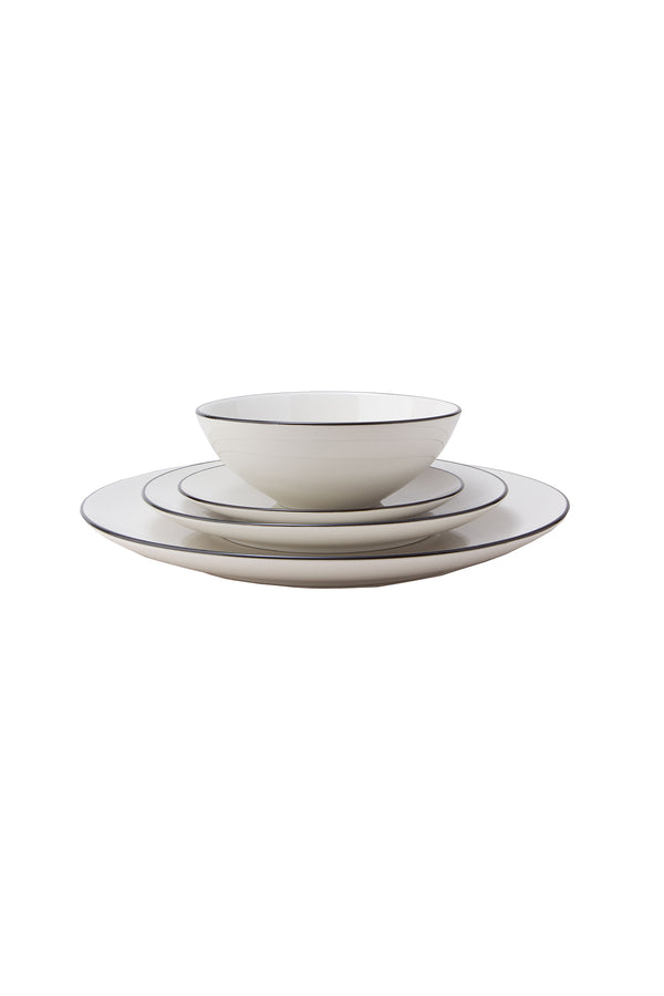 Damek Charcoal Line Dinnerware Set by Hudson Wilder