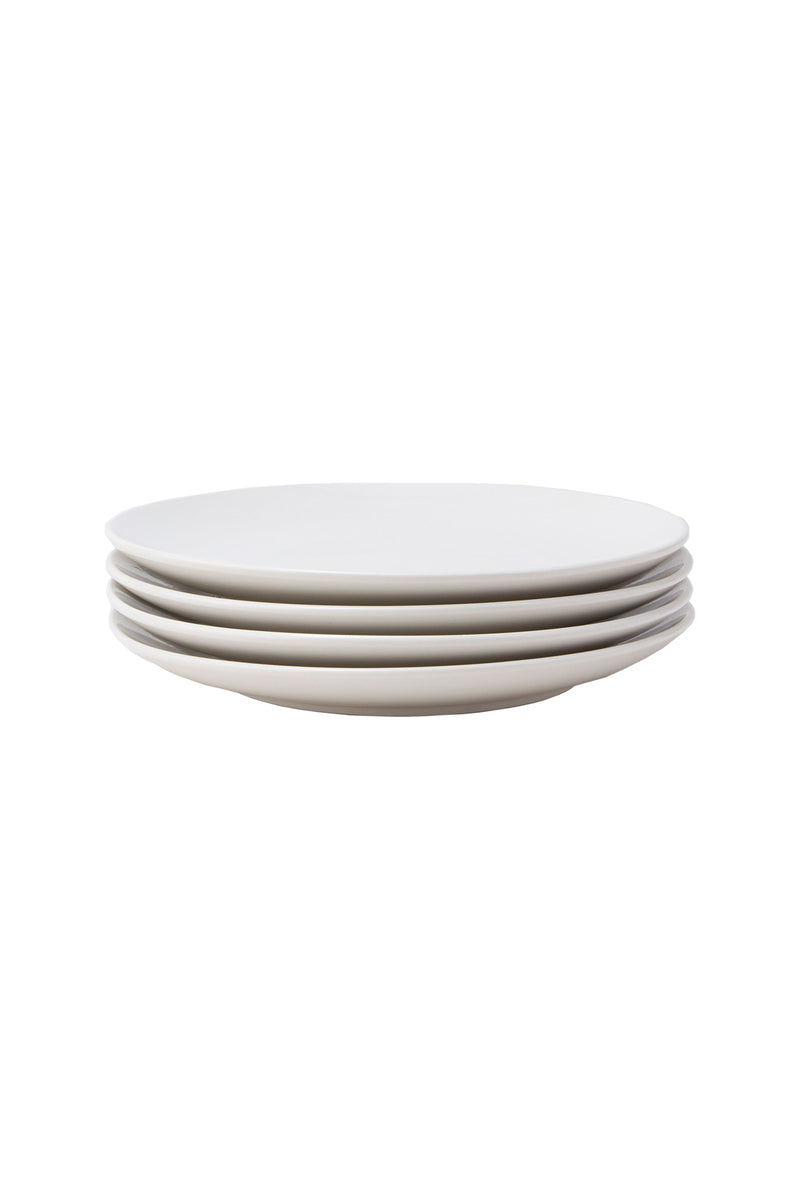 Damek White Medium Plates by Hudson Wilder