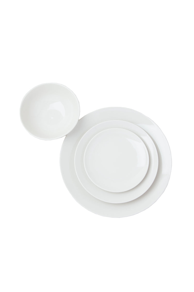 White Damek Dinnerware Set by Hudson Wilder
