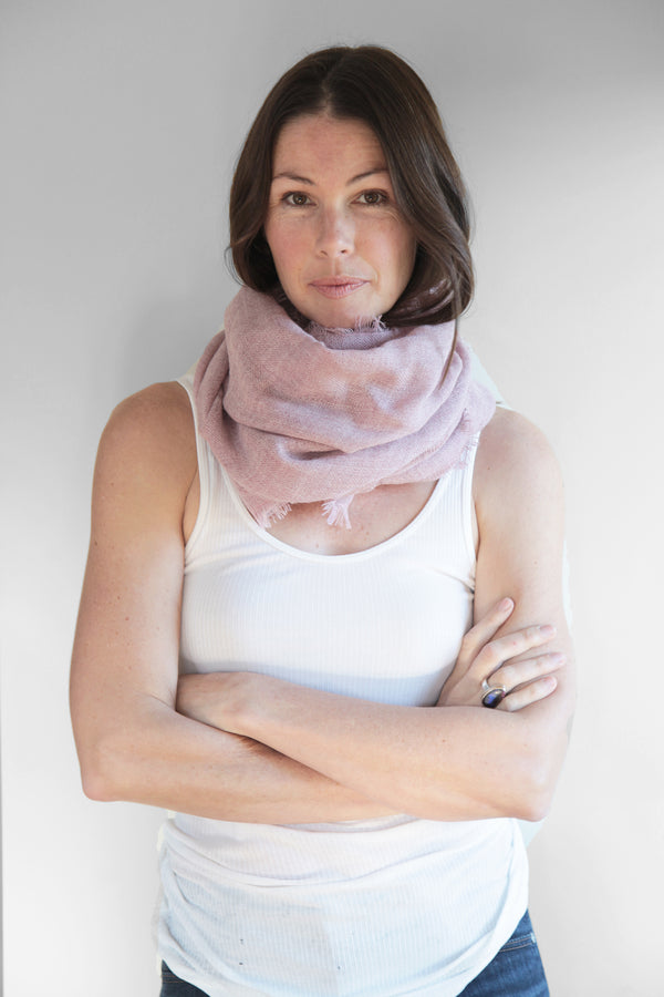 Shayla Baby Alpaca Scarf in Rose by Sefte