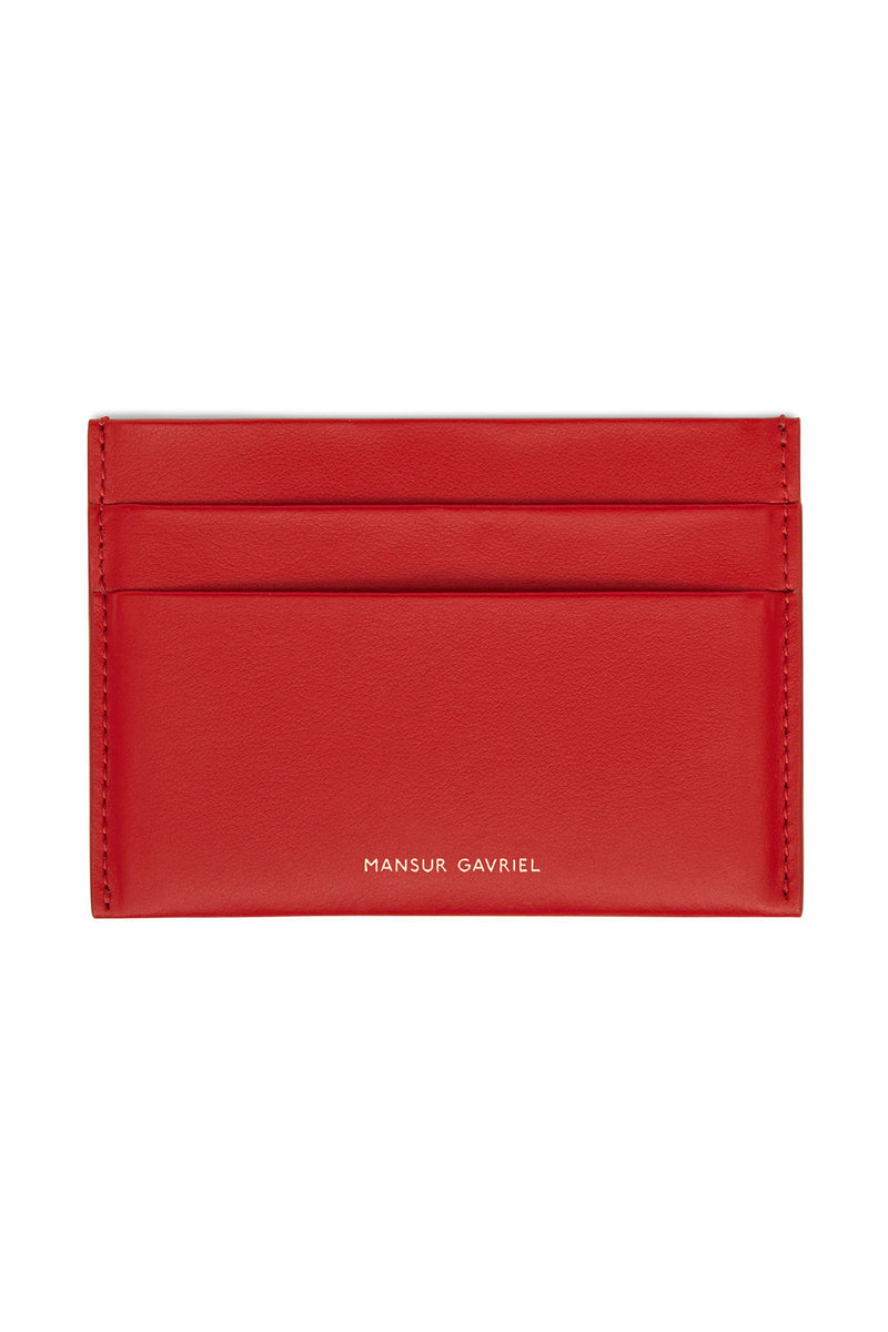 Red Four-Slot Credit Card Holder by Mansur Gavriel