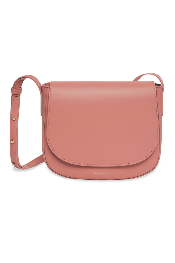 Blush Calf Leather Simple Crossbody Bag by Mansur Gavriel