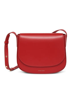 Red Calf Leather Simple Crossbody Bag by Mansur Gavriel