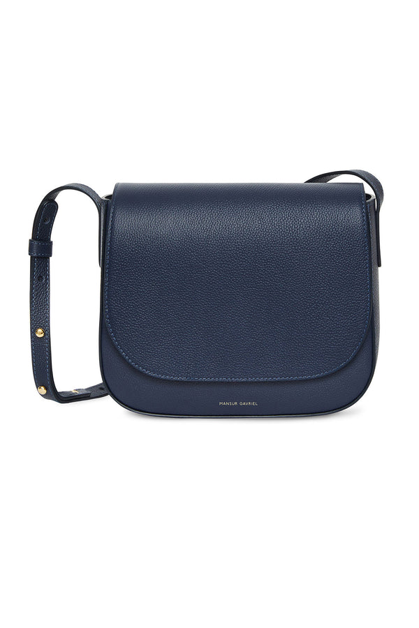 Blue Pebble Leather Crossbody Bag by Mansur Gavriel