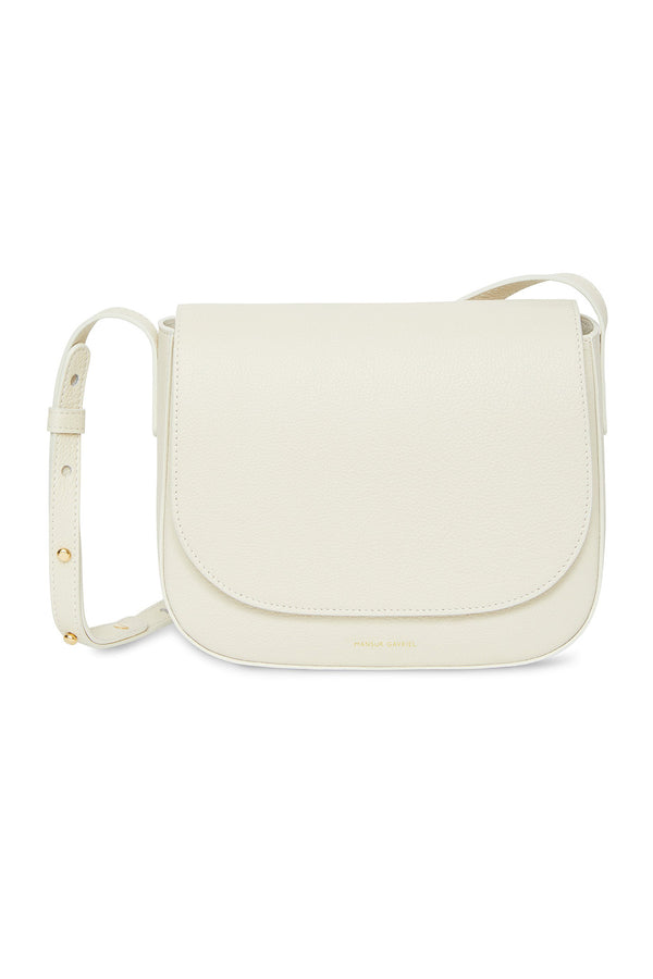 Creme Pebble Leather Crossbody by Mansur Gavriel