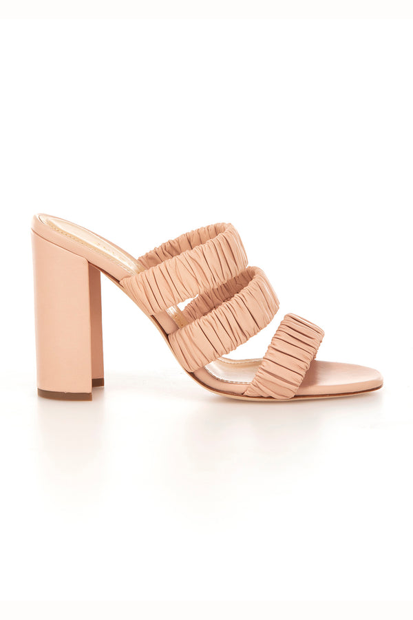 Delphinium in Blush Nude Shell Leather | Chloe Gosselin