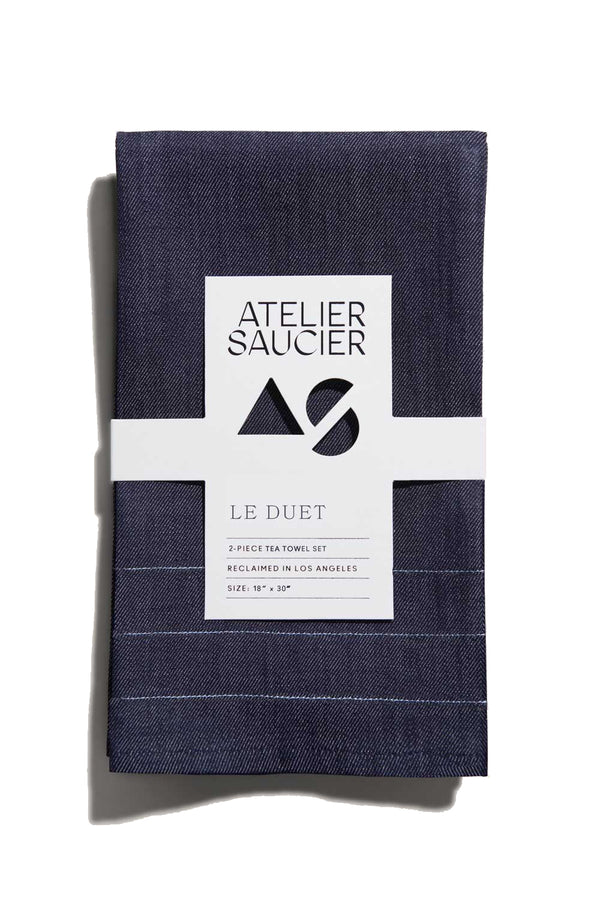 Denim Tea Towels (Set of 2) | Atelier Saucier