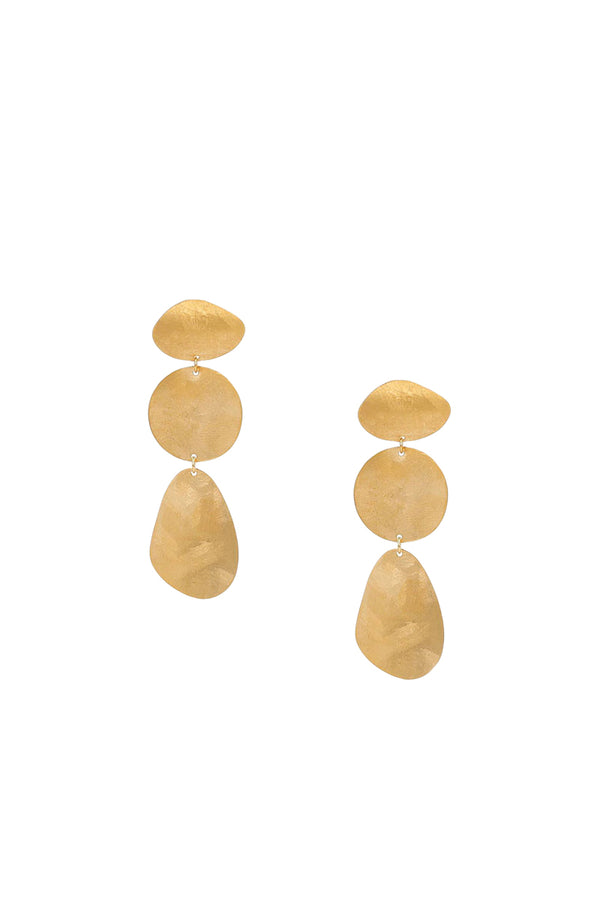 3 Coin Tiered Earrings by Chan Luu