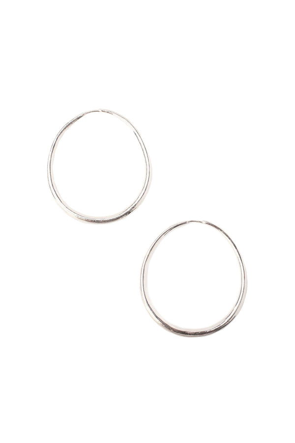 Sterling silver Oblong Hoop Earrings by Chan Luu