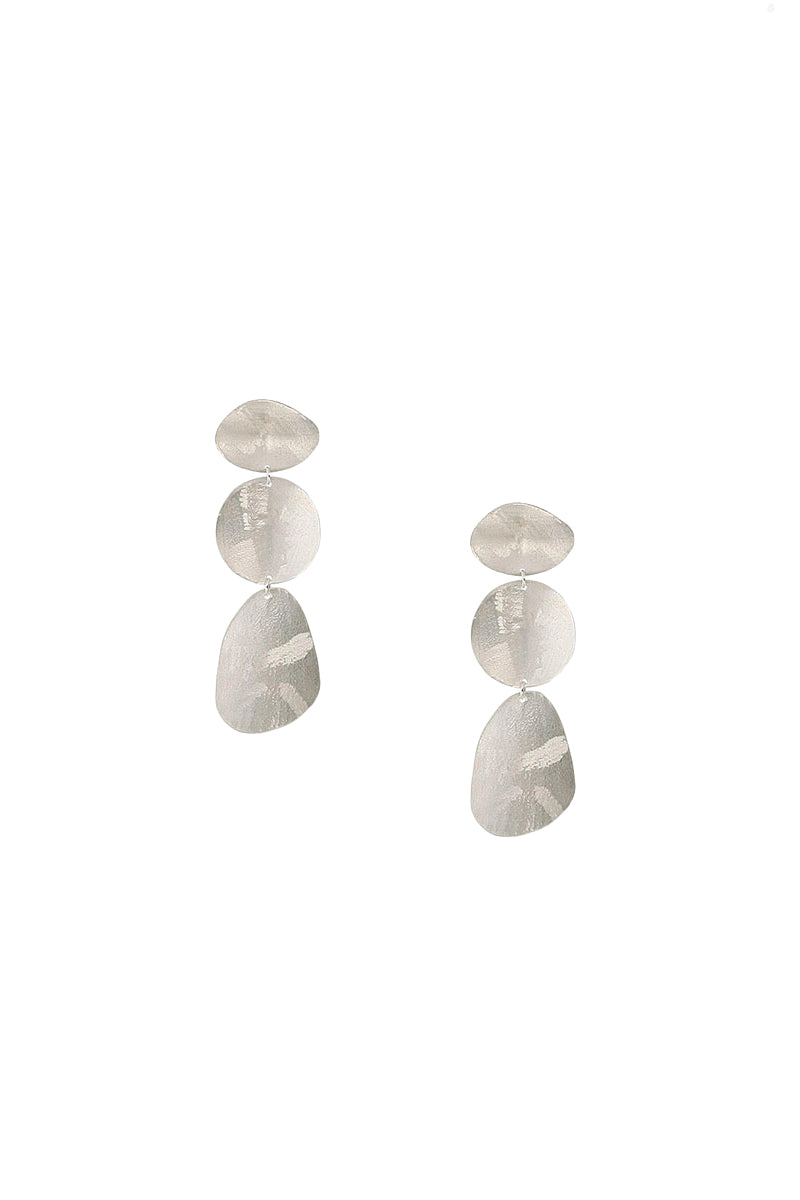 Silver Coin Tiered Earrings by Chan Luu