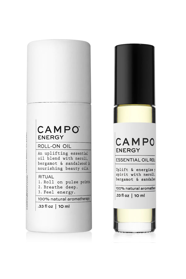 Energy essential oil blend rollerball by CAMPO Beauty