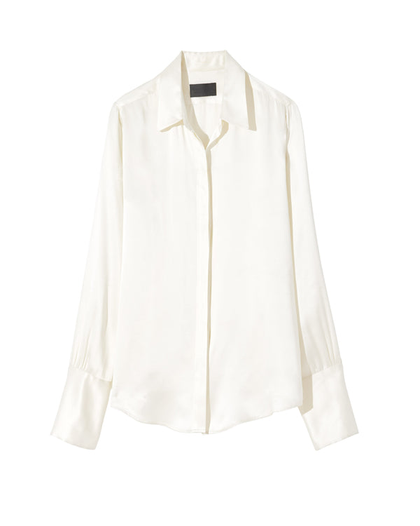 White silk blouse from Nili Lotan