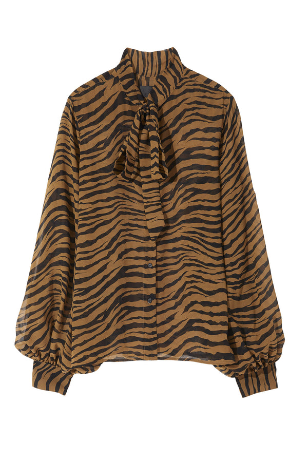 Monica Top - Tiger Print