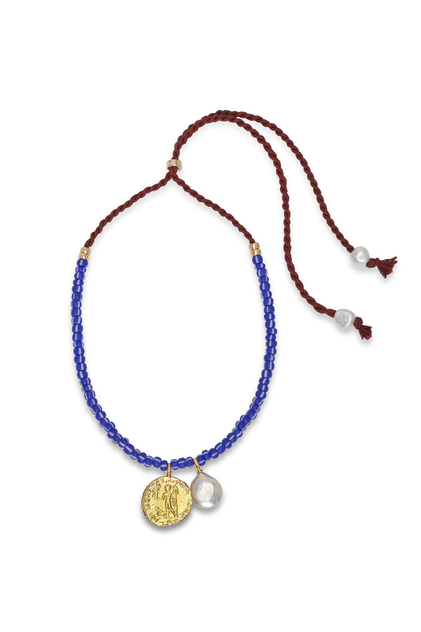 Indigo Charm Necklace