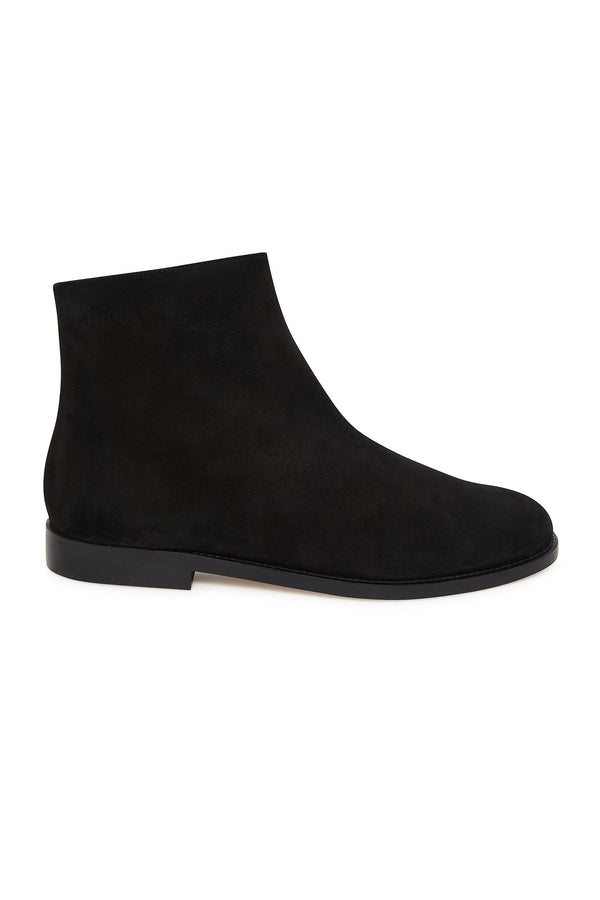 Black Shearling Flat Ankle Boot by Mansur Gavriel
