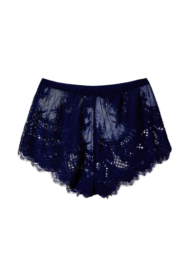 Allover Lace Tap Shorts in Spring Indigo by Fleur du Mal