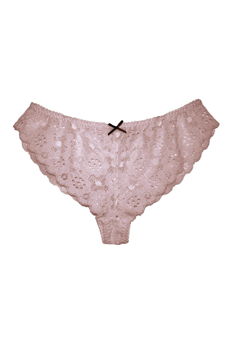 Blush pink Crochet Lace Cheeky by Fleur du Mal