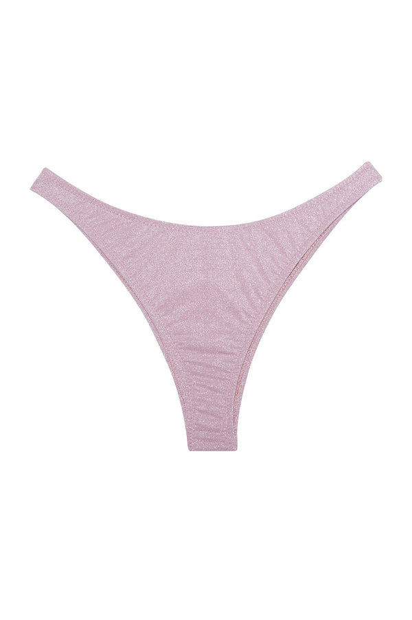 High Leg Bikini Bottom in Rosewater by Fleur du Mal