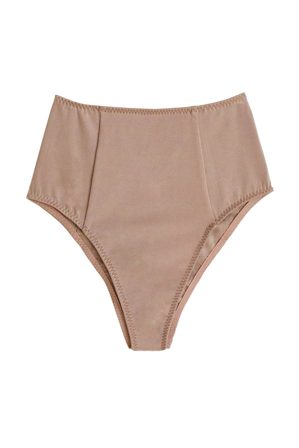 High Waist Bottom in Tan by Fleur du Mal