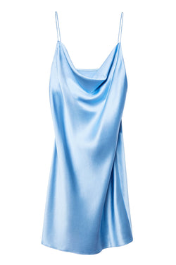 Light blue Short Cowl Neck Slip by Fleur du Mal