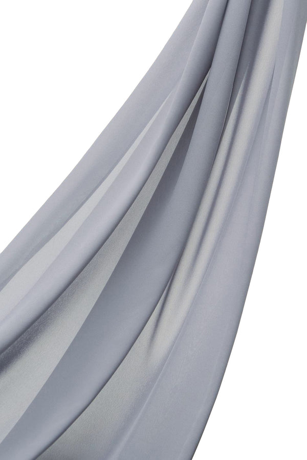 Slate grey blue Everyday Georgette Hijab by Haute Hijab