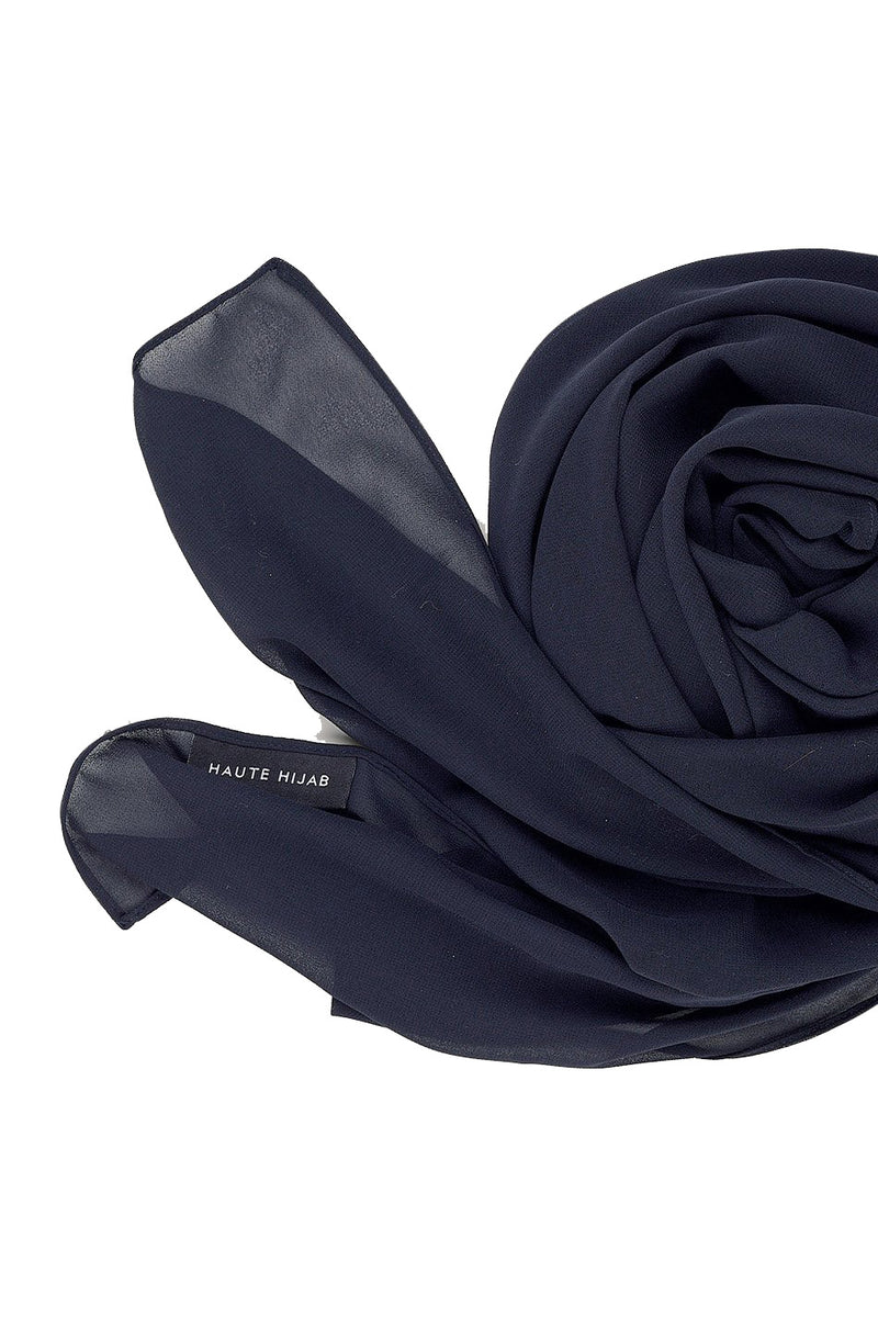 Navy Everyday Georgette Hijab by Haute Hijab