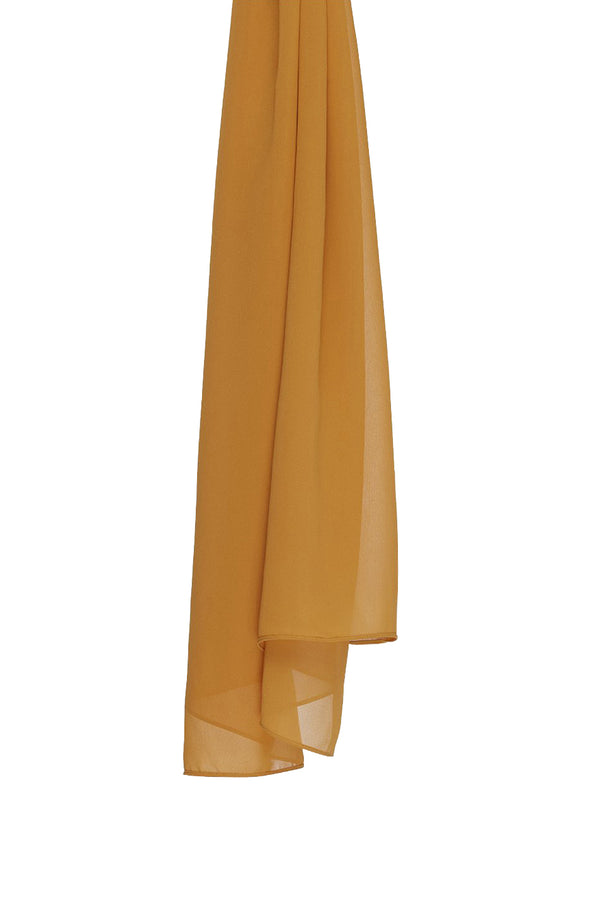 Golden ochre Everyday Georgette Hijab by Haute Hijab