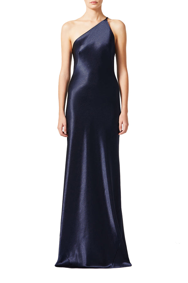 Midnight floor-length evening gown by Galvan London