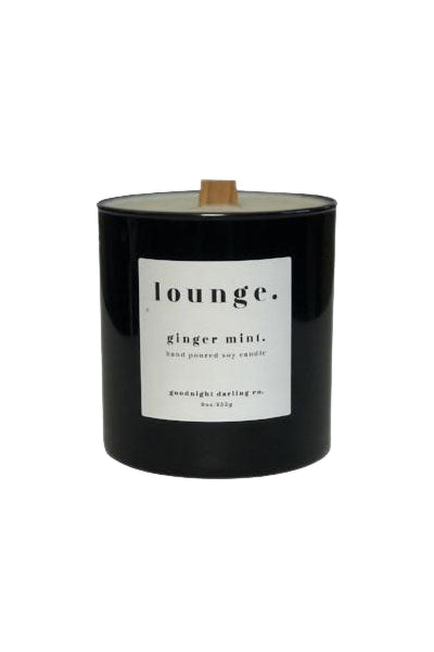 Ginger Mint Wooden Wick Candle by Goodnight Darling