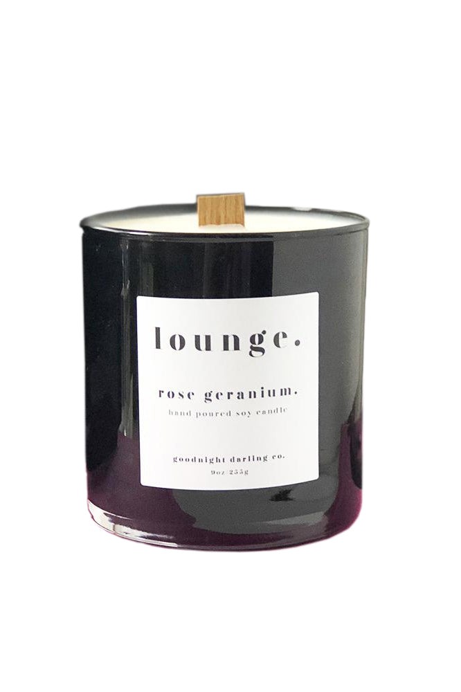 Rose Geranium Wooden Wick Candle by Goodnight Darling