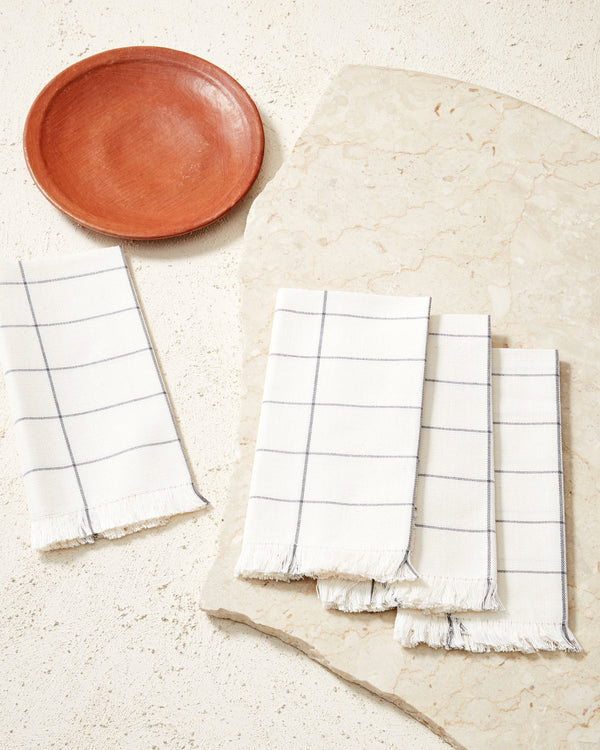 Grid Napkin - Cream | MINNA