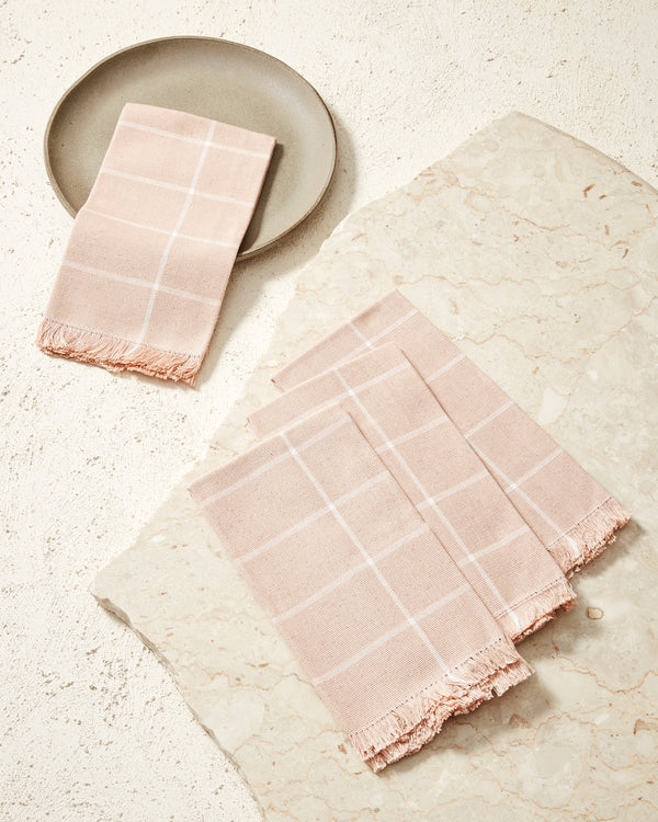 Grid Napkin - Peach | MINNA