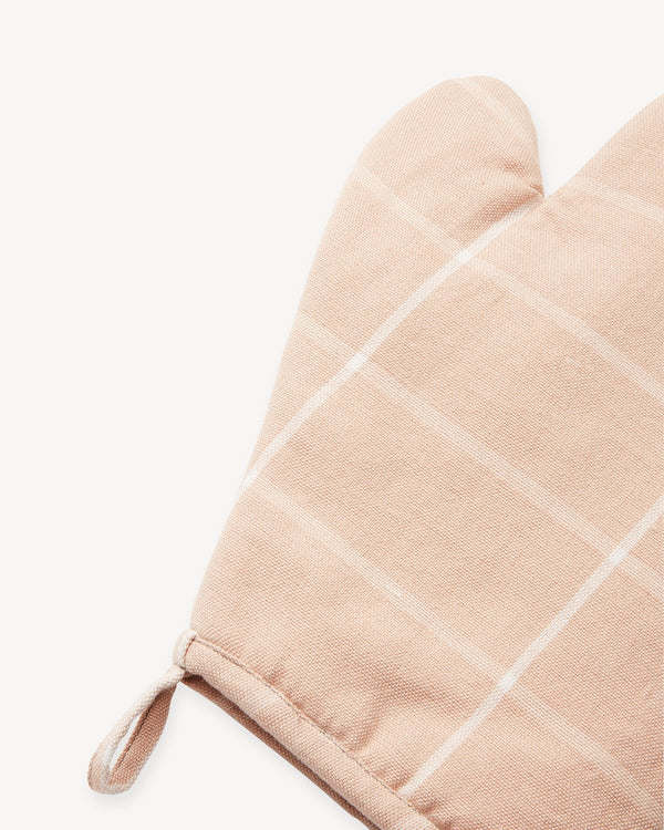 Grid Oven Mitt - Peach | MINNA