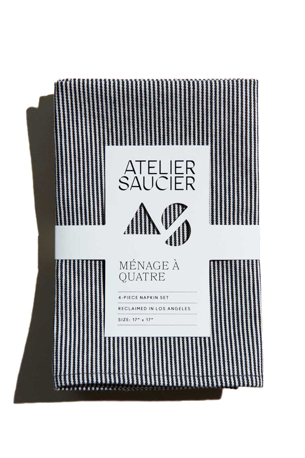 Hickory Stripe Napkins (Set of 4) | Atelier Saucier