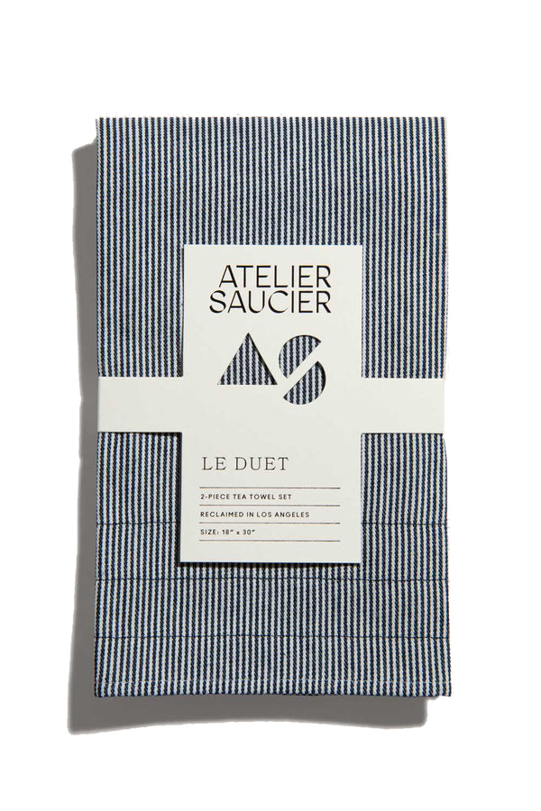 Hickory Stripe Tea Towels (Set of 2) | Atelier Saucier