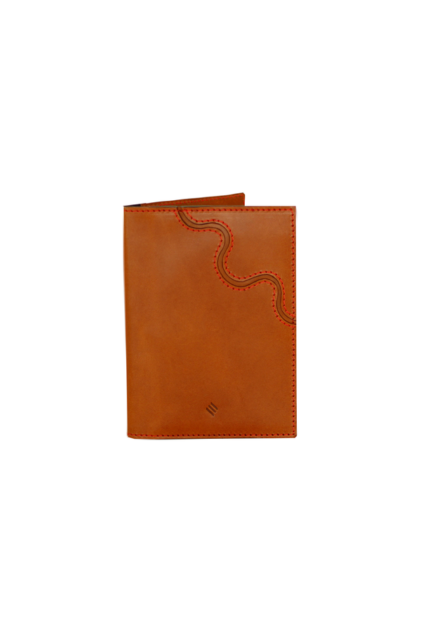 Passport Book in Brown Coral