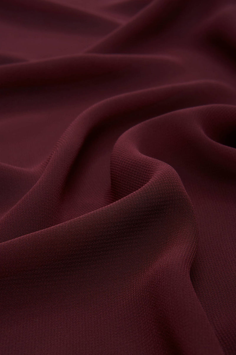 Cranberry red Everyday Chiffon Hijab by Haute Hijab